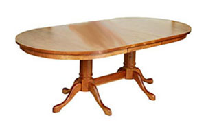 Cabriole Trestle Table