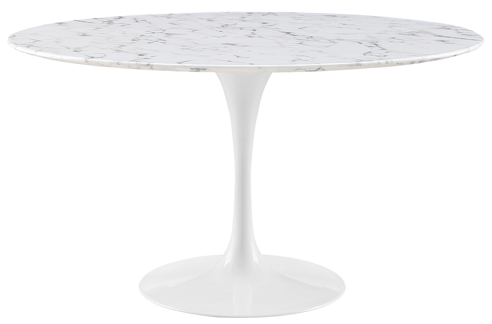 Anabel 54in Artificial Marble Dining Table