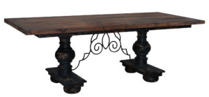 Minuette Vintage Noir Dining Table