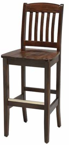 LIBRARY CRESCENT BACK BARSTOOL