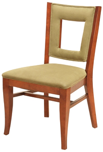 Square Cut-out Upholstered Dining Chair Hospitality Restaurant Residential