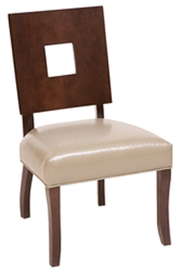 Hospitality Restaurant Residential Upholstered Seat Wood Dining Chair