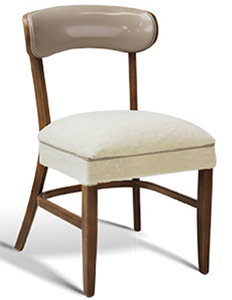Restaurant Upholstered Wood Stacking Dining Chair