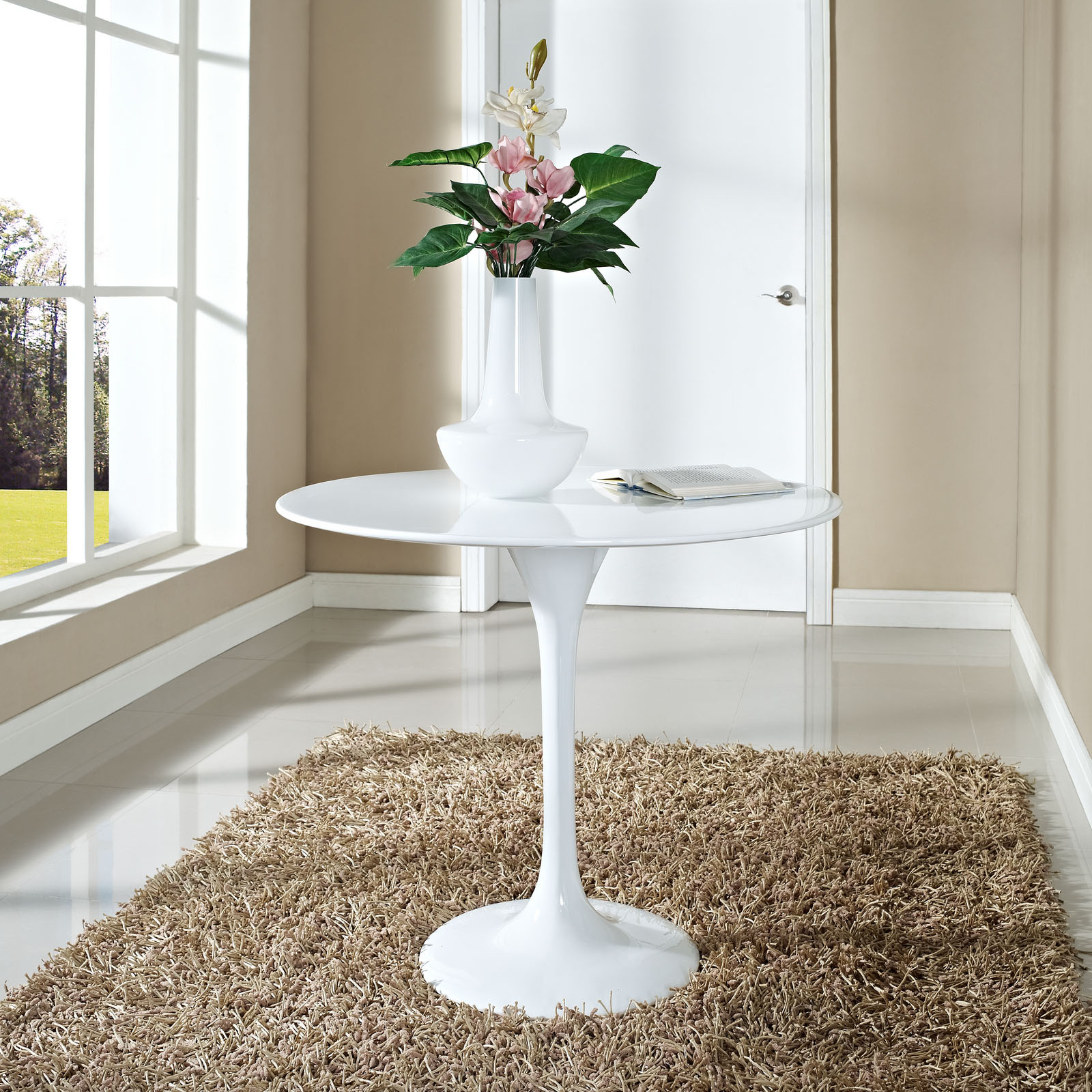 Anabel 28in Fiberglass Dining Table2