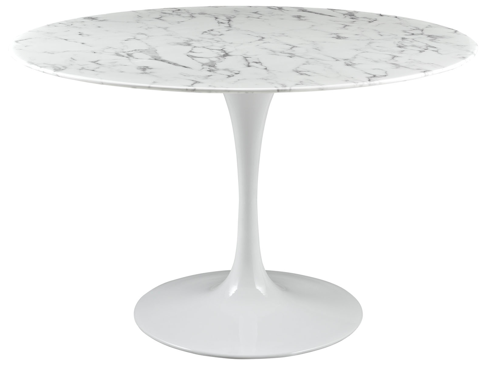 Anabel 47in Artificial Marble Dining Table