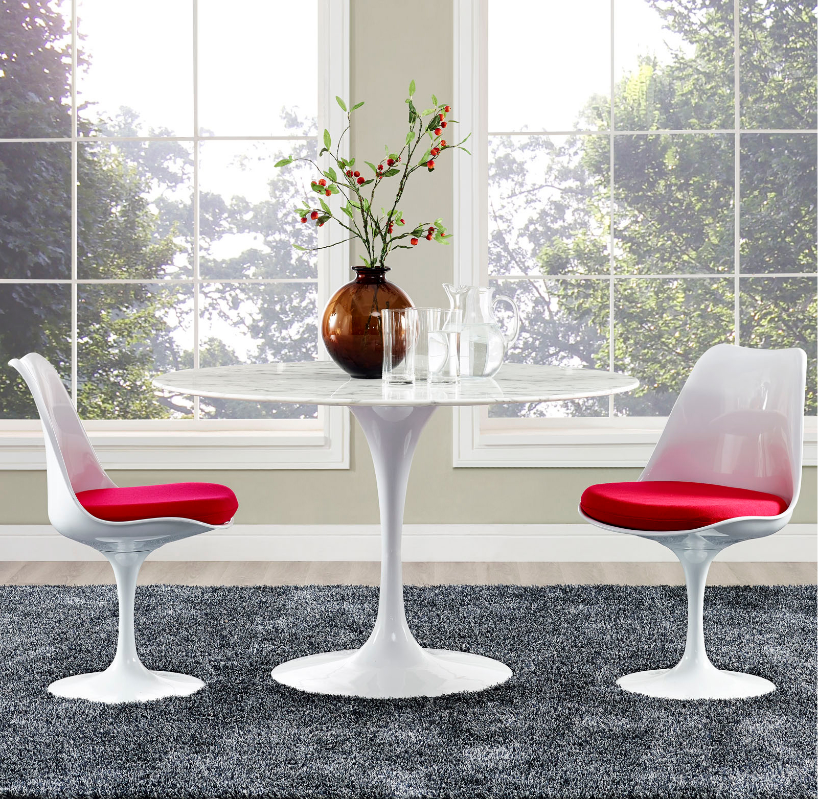 Anabel 47in Artificial Marbe Dining Table2