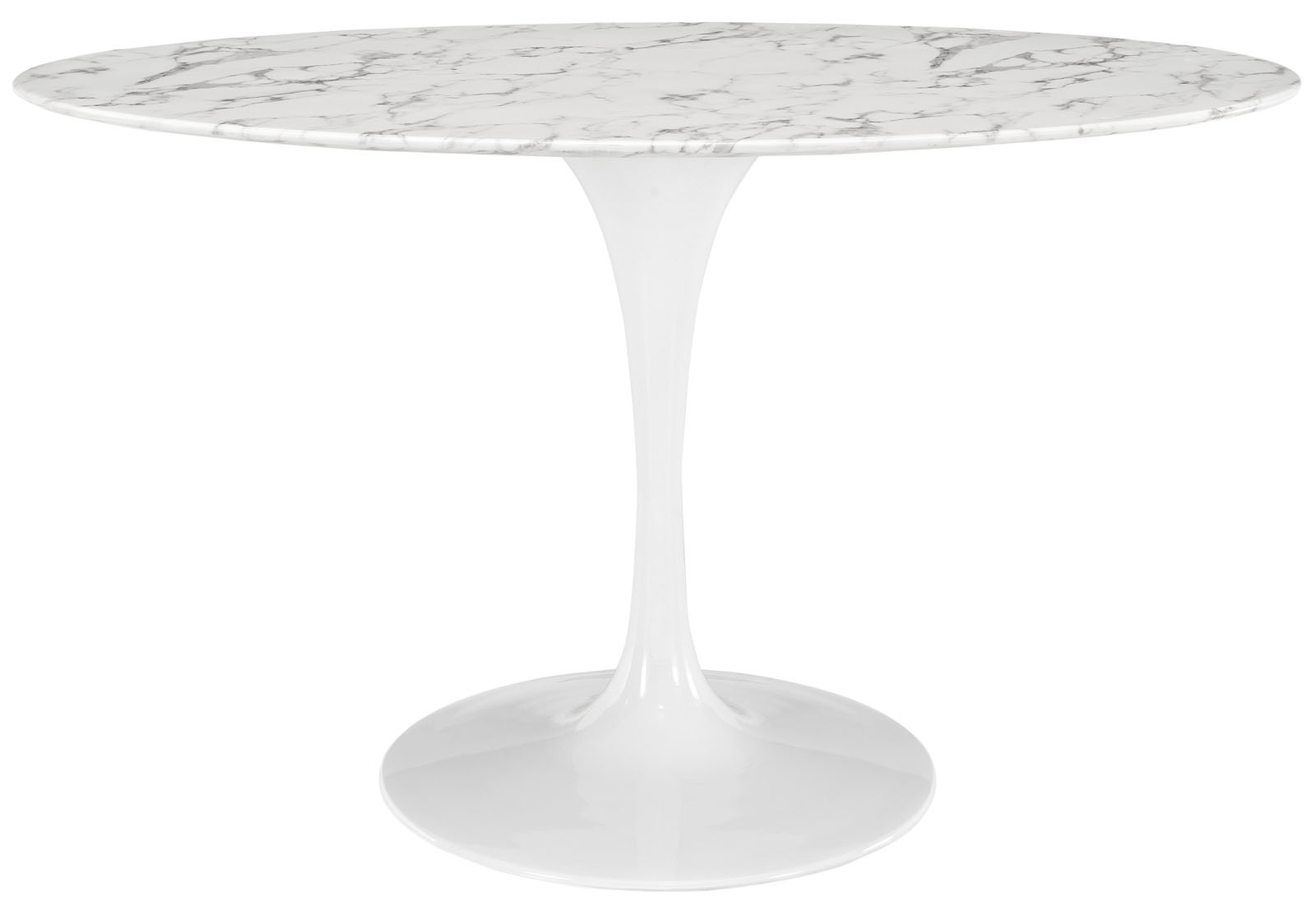 Anabel 54in Artificial Marbe Oval Dining Table1