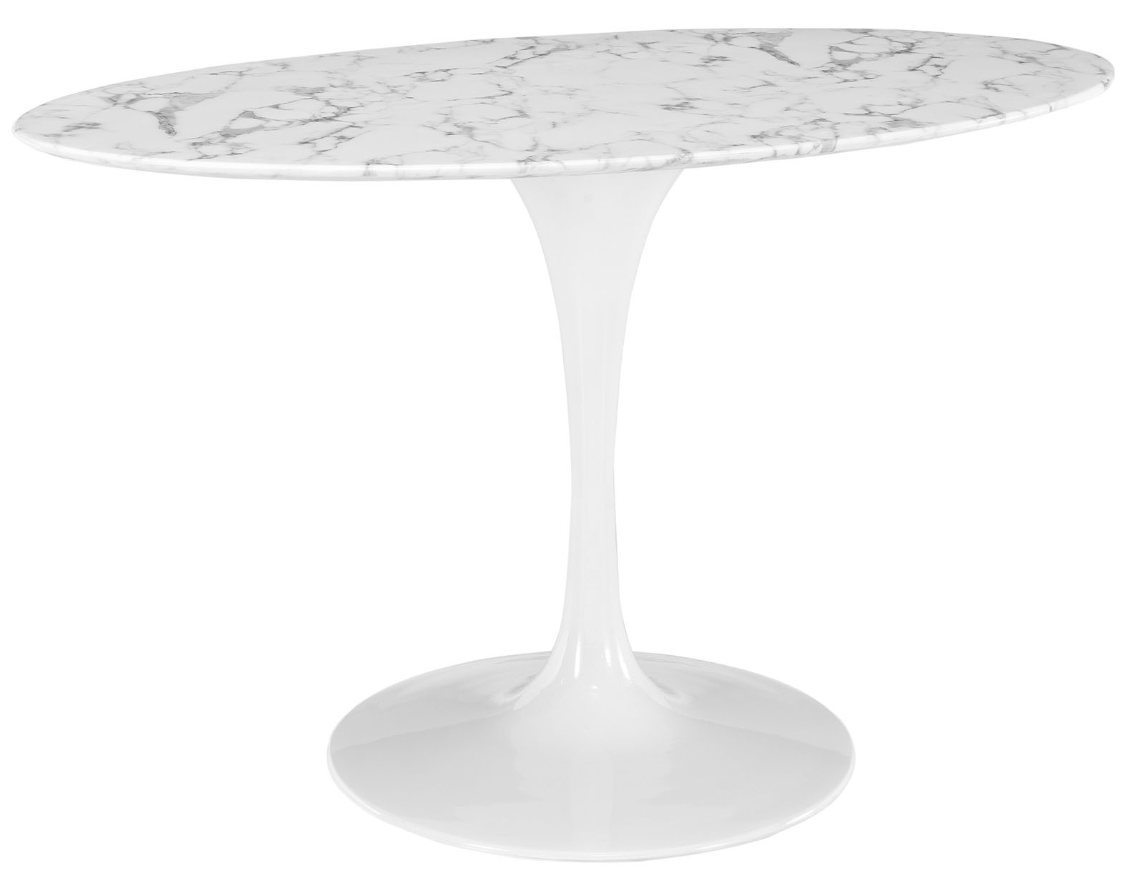 Anabel 54in Artificial Marbe Oval Dining Table3