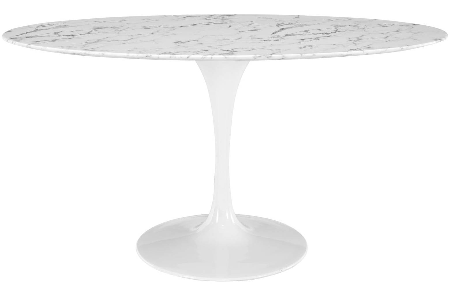 Anabel 60in Artificial Marble Dining Table