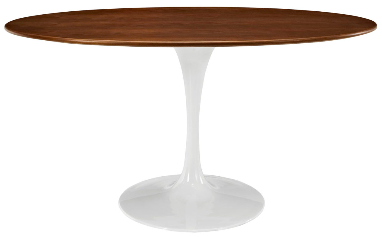 Anabel 60in Walnut Oval Dining Table
