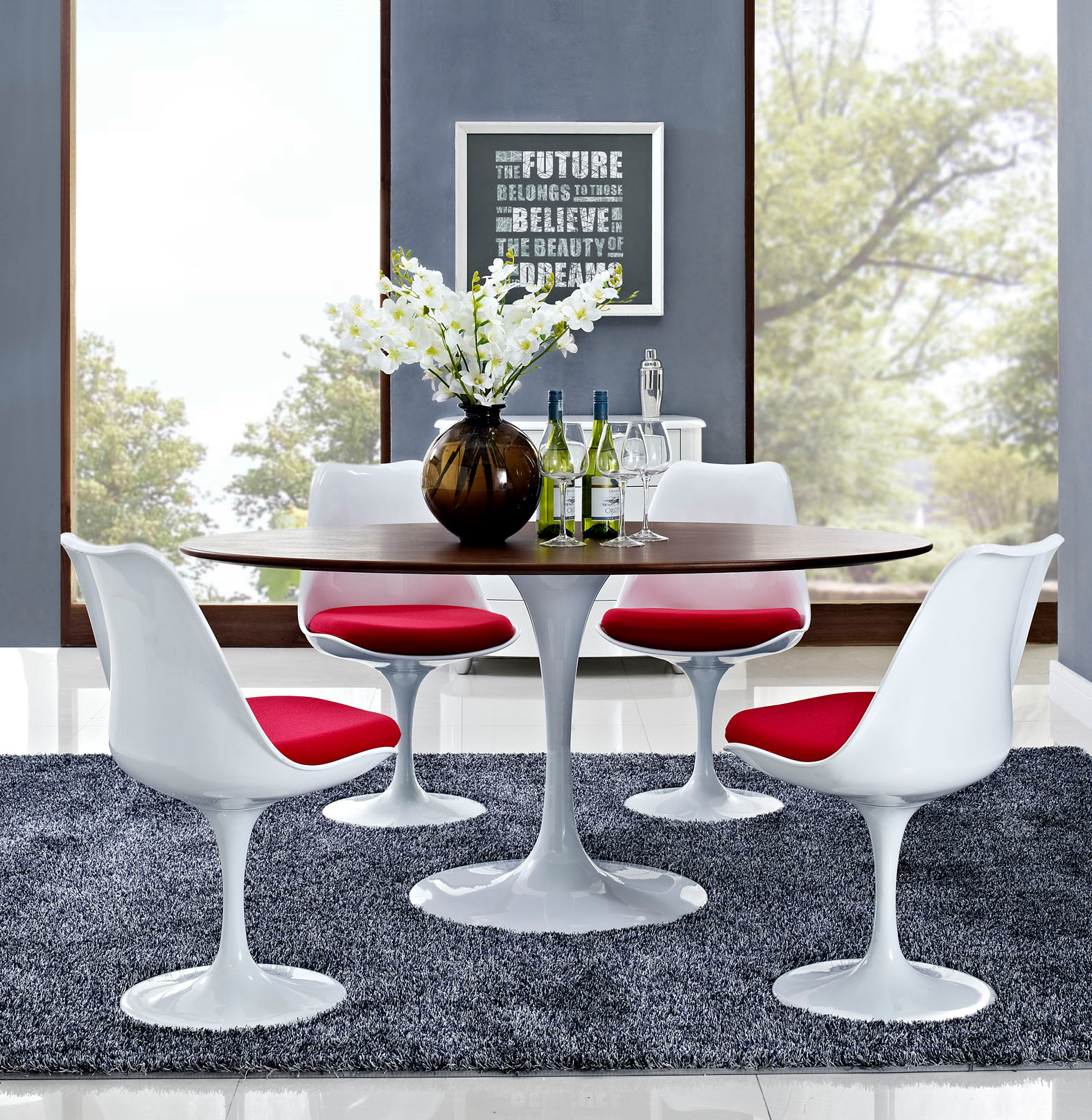 Anabel 60in Walnut Oval Dining Table2