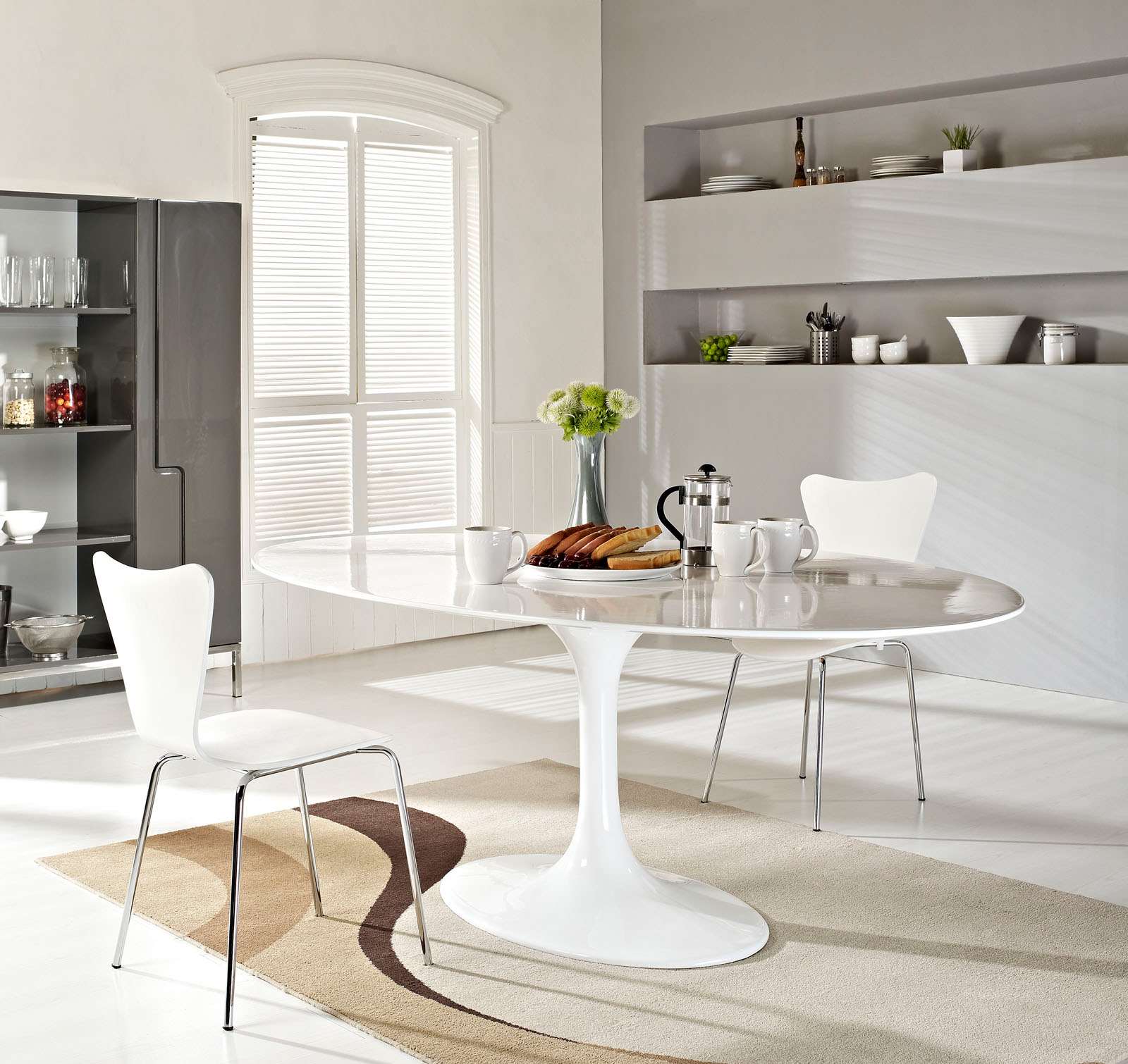Anabel 78in Fiberglass Dining Table2