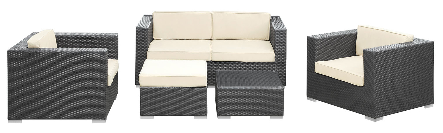 Malibu 5 Piece Outdoor Patio Sofa Set