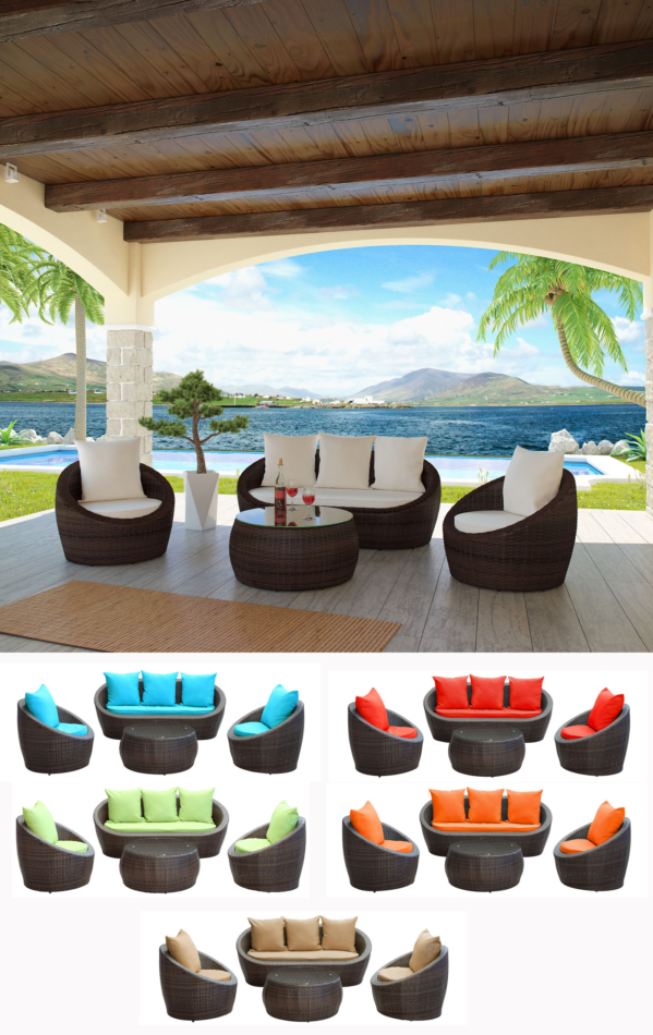 Pasadena Outdoor Sofa Set City Living Design