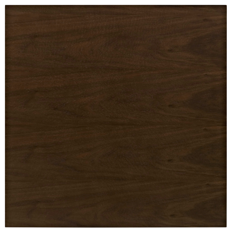 Anabel 40u2033 Square Walnut Dining Table