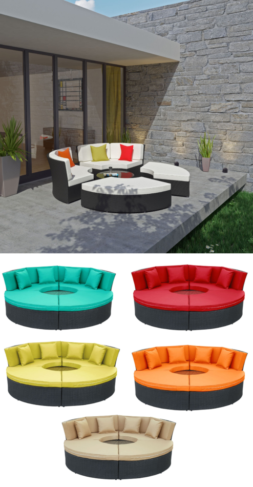 Sol outdoor daybed set